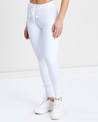 VILLIN NFL 2.0 Lace Up Sports Tights - Full Tights (White)
