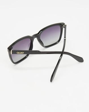 Quay Australia Legacy - Sunglasses (Black & Smoke Polarised Lens)