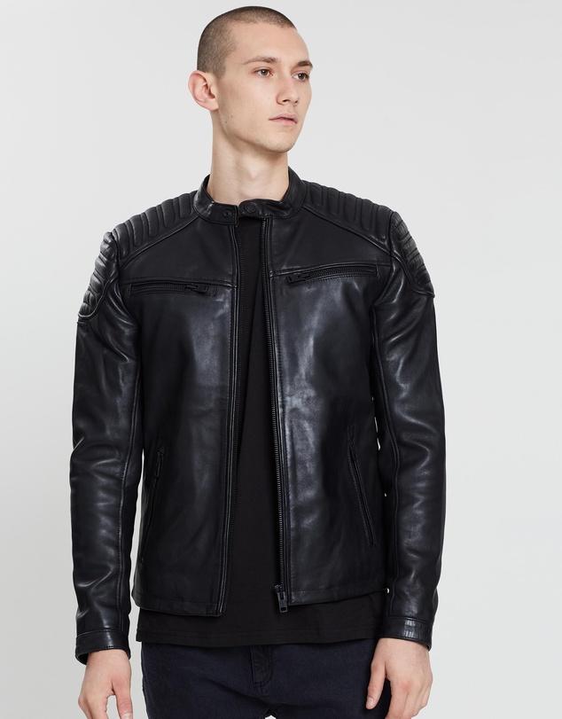 562d1e1e7 New Hero Racer Leather Jacket