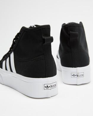 adidas Originals Nizza Hi Platform   Women's - Lifestyle Sneakers (Core Black, Footwear White & Footwear White)
