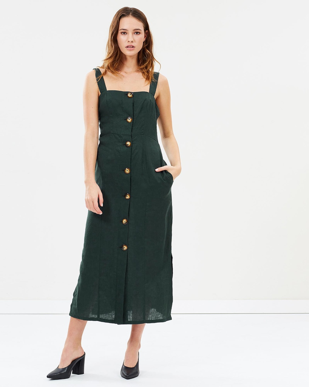 Jillian Boustred Chloe Dress Dresses Forest Green Chloe Dress