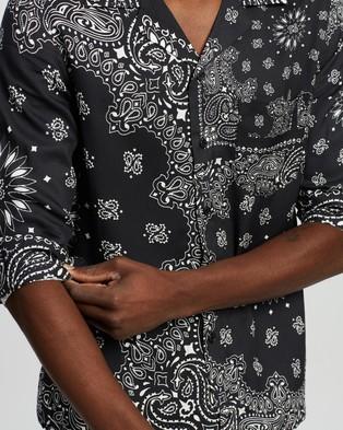 Neuw Waits LS Shirt - Casual shirts (Black Paisley)