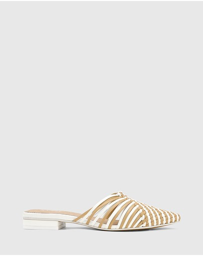 Wittner - Mila Woven Leather Block Heel Mules
