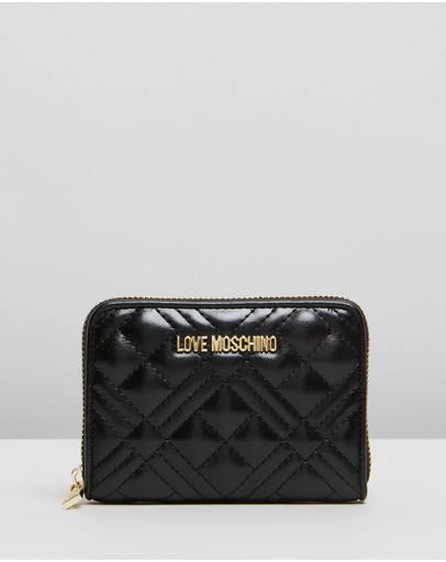 Love Moschino Small Quilted Wallet Black