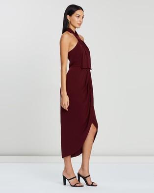 Shona Joy - Knot Draped Dress - Bridesmaid Dresses (Burgundy) Knot Draped Dress