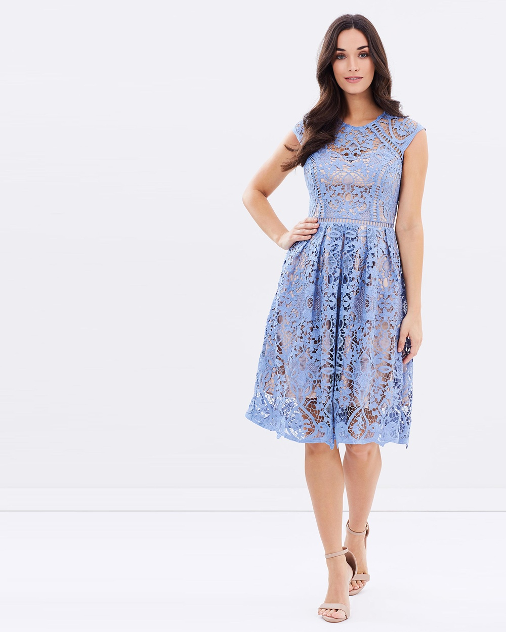 Lipsy VIP Cornflower Lace Dress Dresses Cornflower VIP Cornflower Lace Dress