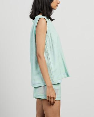 Cecilie Copenhagen - Shirt V NS Tops (Ballad Blue)