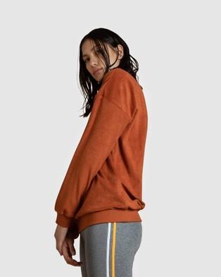 First Base Dunk Oversized Sweater - Sweats (Tan)