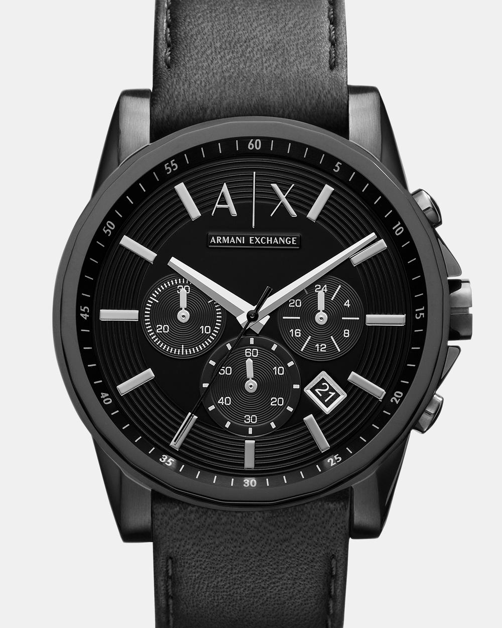 Armani Exchange Black Chronograph Watch AX2098 Watches Black