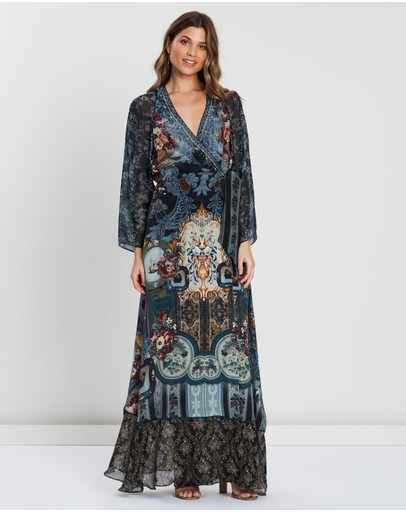 Camilla - Wrap Dress with Piping Detail