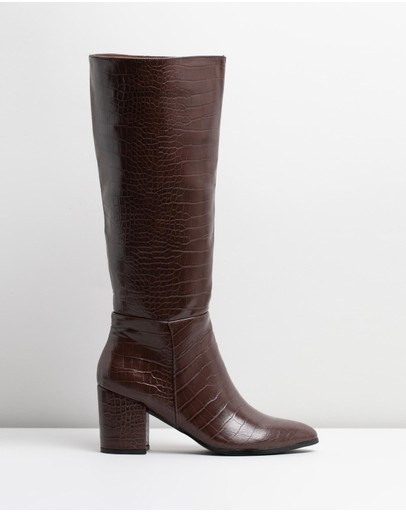 Therapy Julia Croc Boots Brown