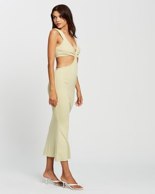 AERE Cutout Knit Dress - Bodycon Dresses (Oatmeal)