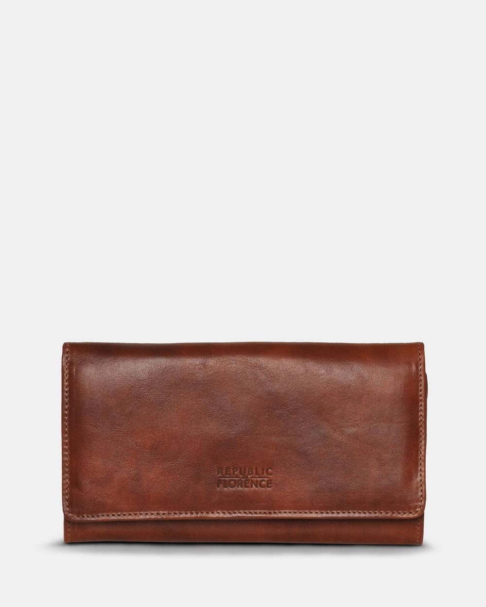 Florence Carmen Leather Wallet Wallets Brown