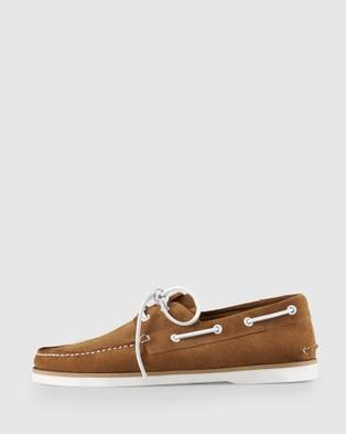 Aquila Admiral Boat Shoes - Dress Shoes (Tobacco)