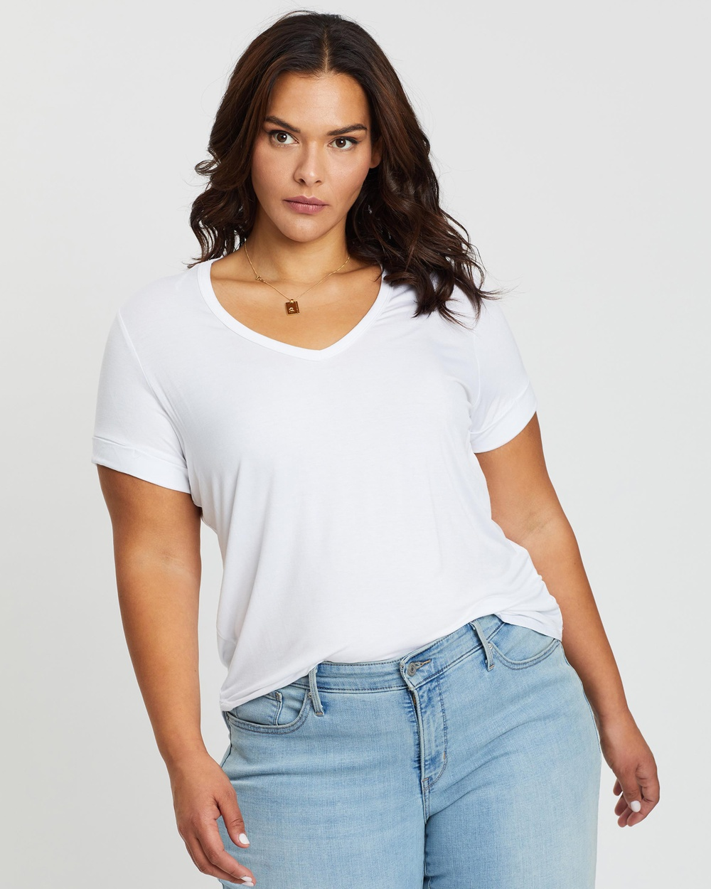 Cotton On Curve - Karly Short Sleeve Tee - T-Shirts & Singlets (White) Karly Short Sleeve Tee