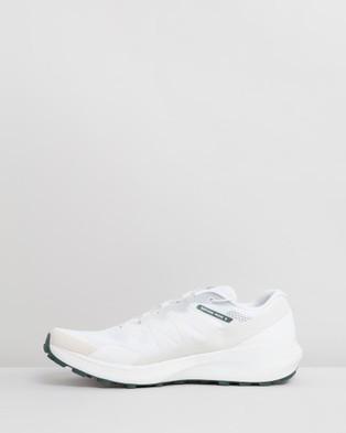 Salomon Sense Ride 3 Shoes   Men's - Hiking & Trail (White, White & Balsam Green)