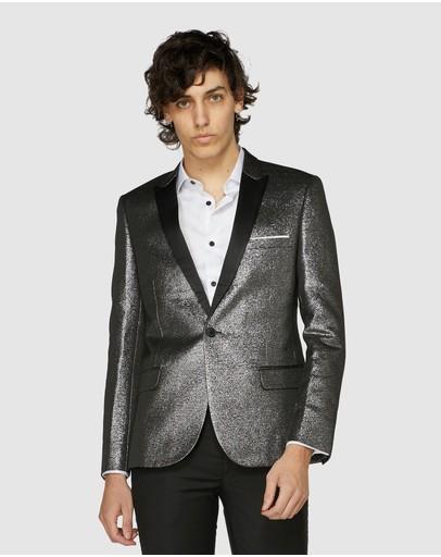 Jack London Metallic Cocktail Jacket Silver