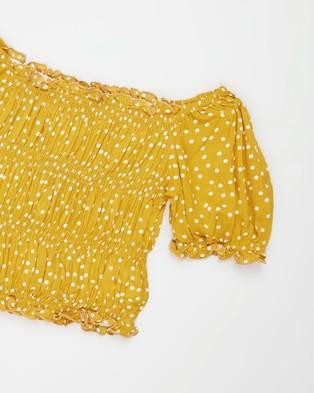 Eve Girl Sienna Spot Top   Teens - Tops (Sunflower Spot Print)