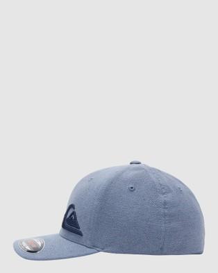 Quiksilver Mens Final Flexfit Hat - Headwear (Navy Blazer)