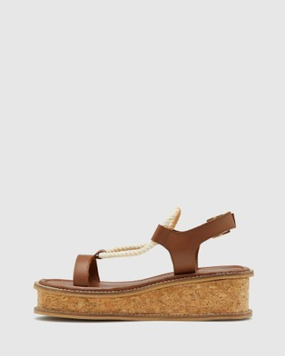 Oxford Leilani Leather Platform Shoe - Heels (Brown)