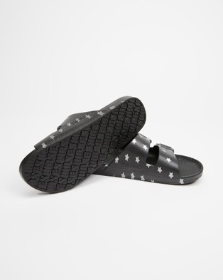 Freedom Moses Slides   Unisex - Casual Shoes (Silver Stars)