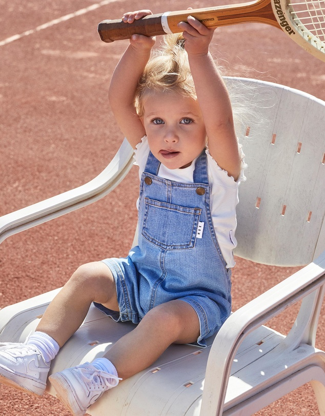Huxbaby - Short Denim Overalls - Babies-Kids