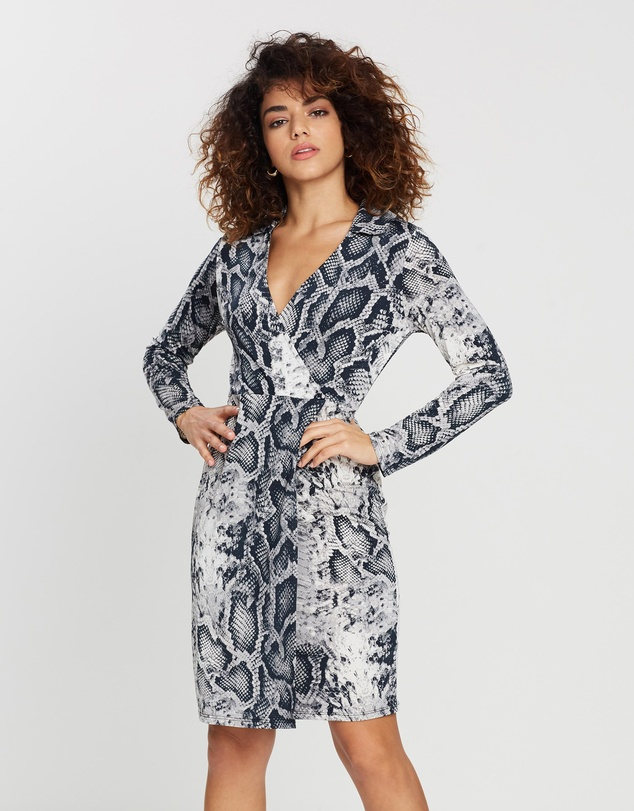 DP Petite - Snake Wrap Dress
