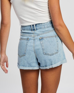 Atmos&Here Angela Recycled Cotton Blend Denim Shorts - Denim (Vintage Blue)