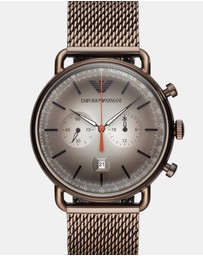 Emporio Armani - Brown Chronograph Watch
