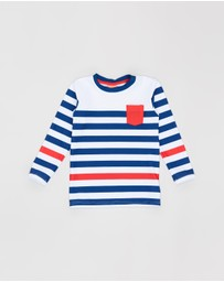 Sunuva - Wide Stripe Long Sleeve Rash Vest - Kids
