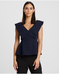 Willa - Clinton Wide Shoulder Top