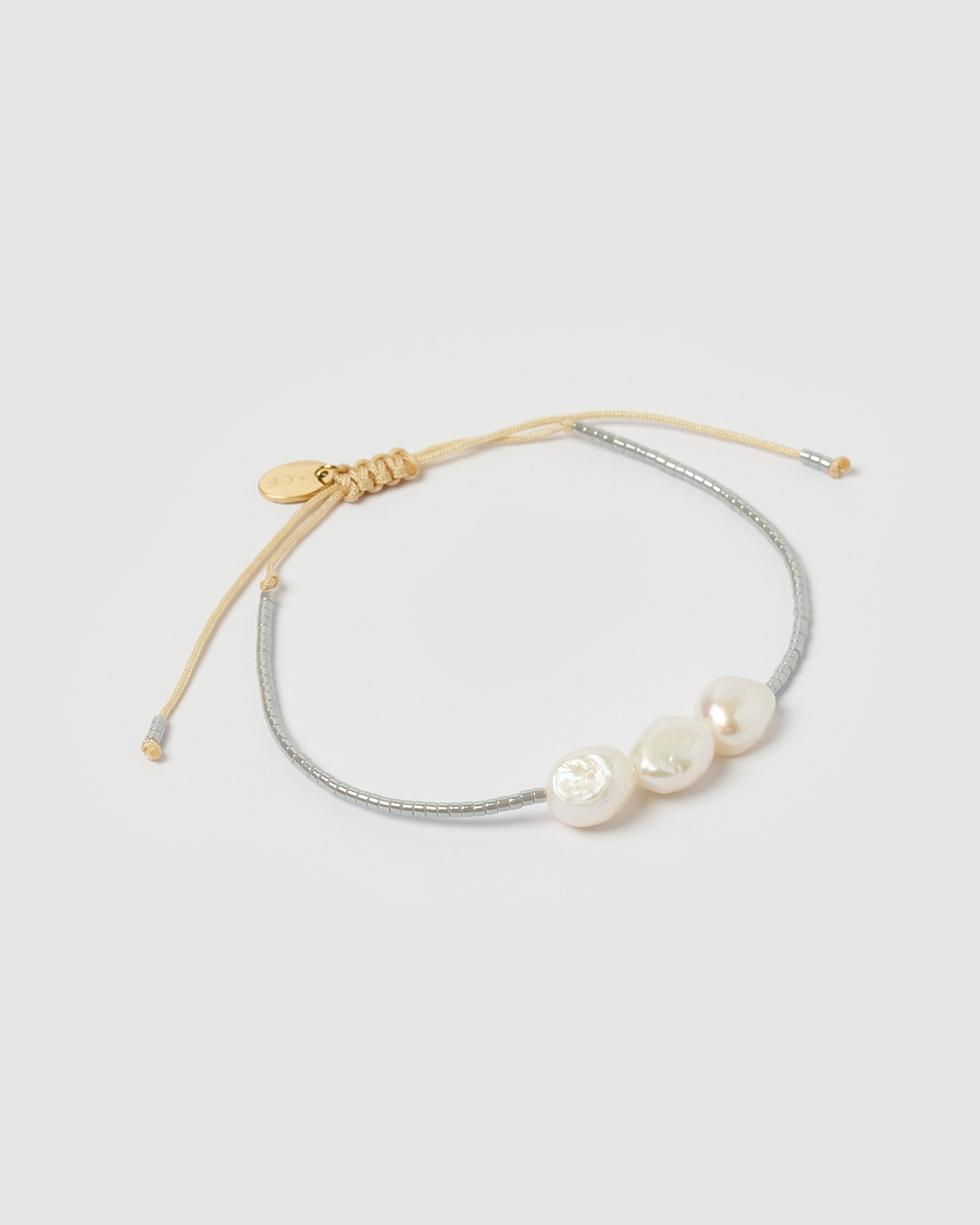 Arms Of Eve Serena Pearl & Glass Beaded Bracelet Jewellery Silver
