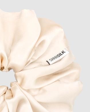 Shhh Silk Oversized Silk Scrunchie - Beauty (Nude)