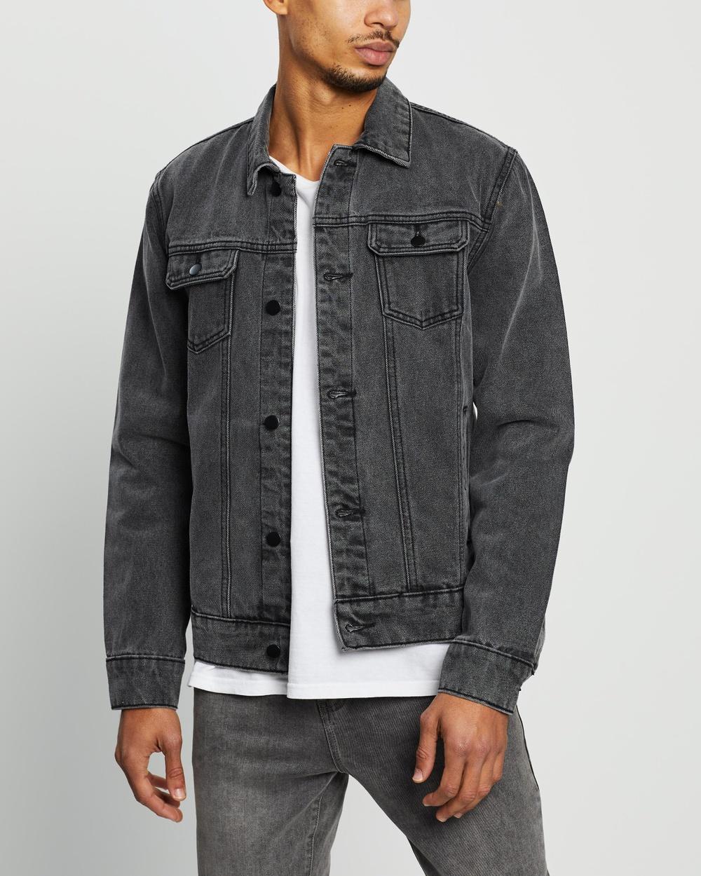Staple Superior Denim Trucker Jacket jacket Black Australia