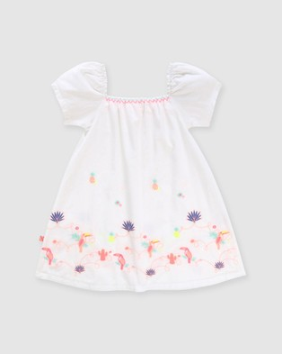 Billieblush Dress   Kids - Dresses (White)