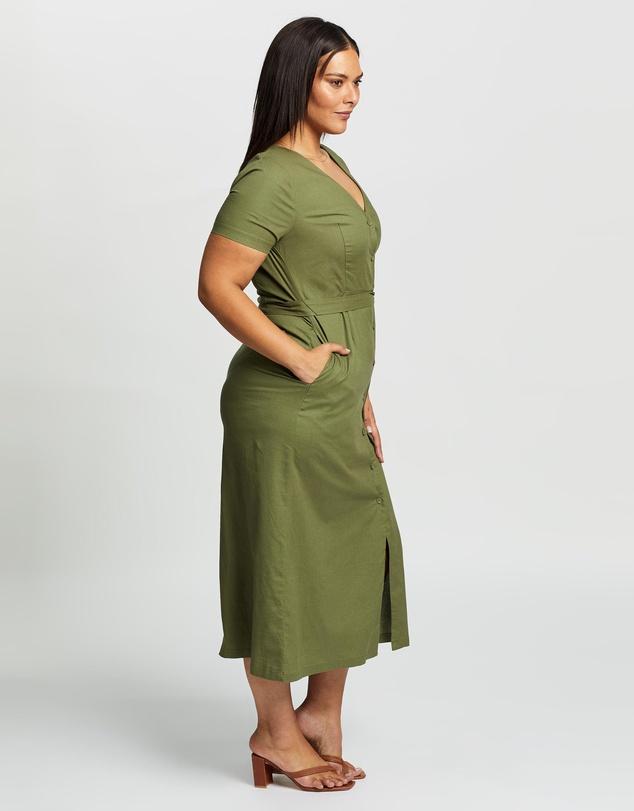 Women Yenet Linen Blend Midi Dress