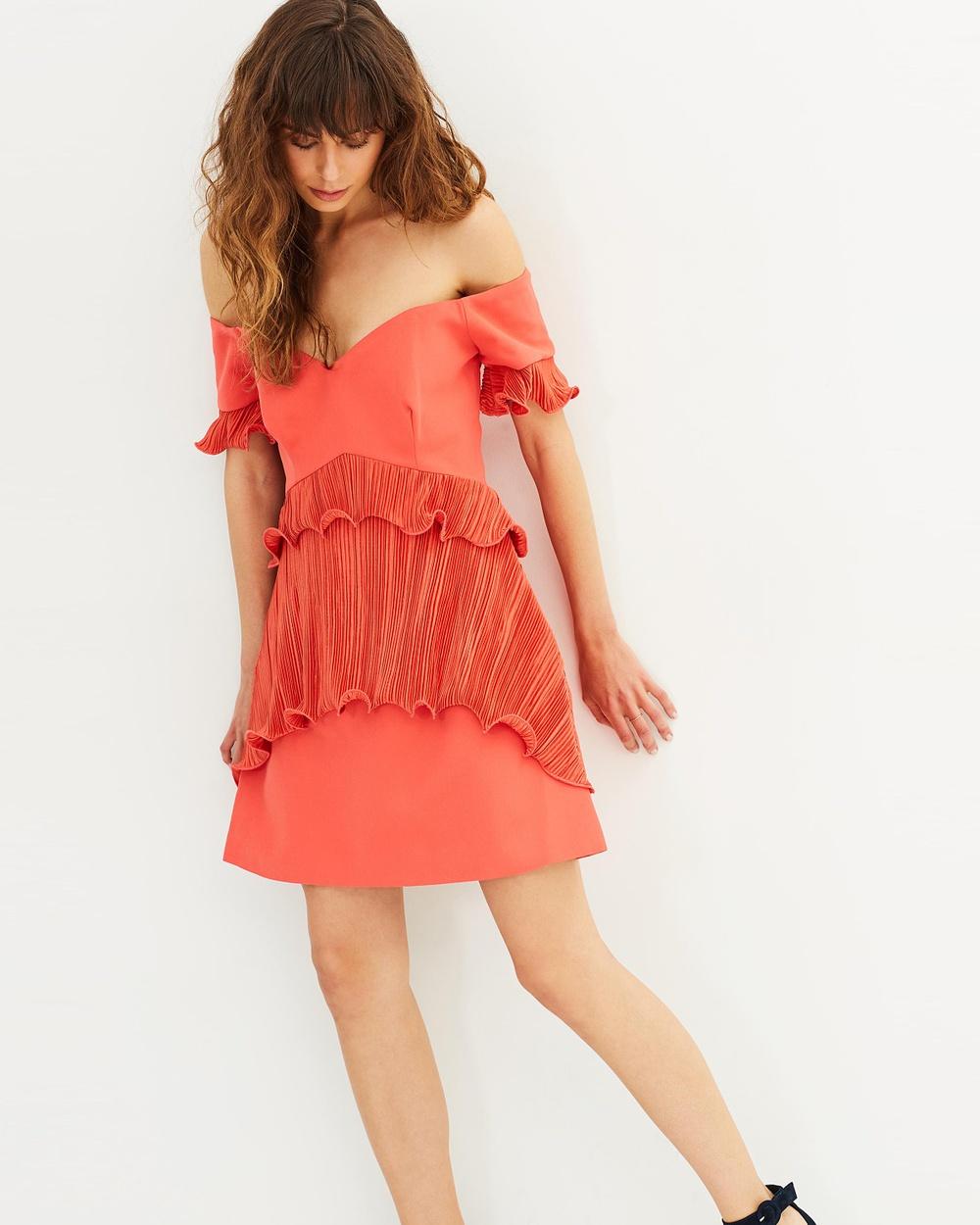Talulah Grande Off Shoulder Mini Dress Dresses Coral Grande Off-Shoulder Mini Dress