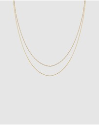Elli Jewelry - Necklace Choker Twisted Filigree Basic in 925 Sterling Silver Gold Plated