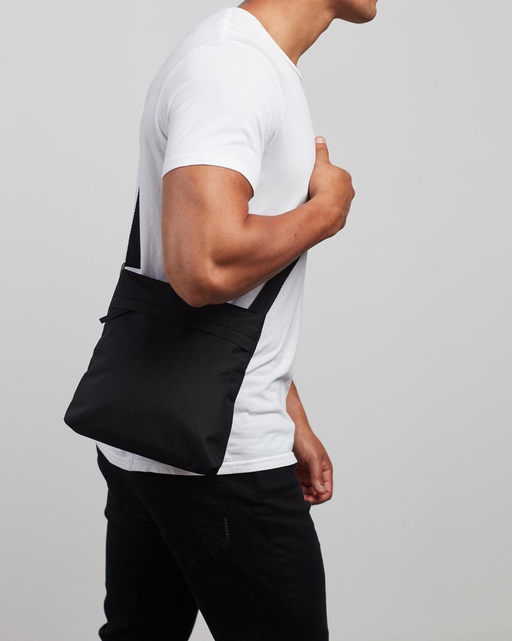 AERE Recycled Cross Body Bag Handbags Black Cross-Body