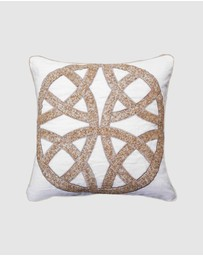 Bandhini Design - Chanel Natural Medium Cushion