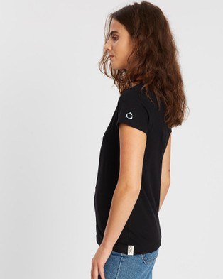 Conscious Swim Underwater Earth Coral Tee - T-Shirts & Singlets (Black)