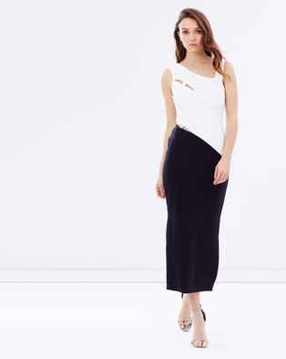 Finders Keepers – Latrobe Midi Dress – Dresses (Black & White)