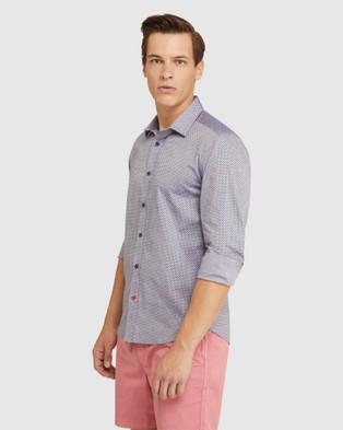 Oxford Kenton Printd Shirt - Casual shirts (Blue)