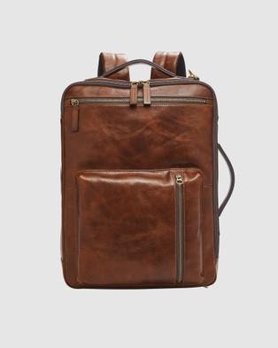 Fossil Buckner Brown Backpack - Backpacks (Brown)