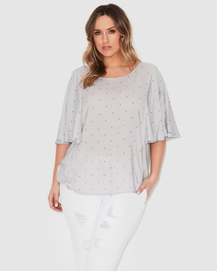 17 Sundays Mini Spot Drape Top - Tops (Multi)