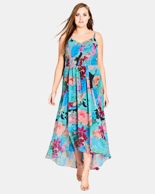 City Chic – Looking Glass Maxi Dress – Printed Dresses Looking Glass