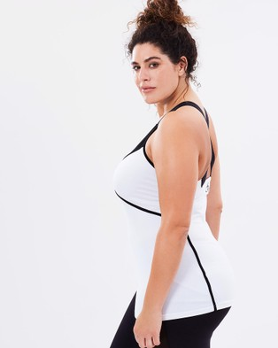 Curvy Chic Sports Zenith Tank - Muscle Tops (White & Black)