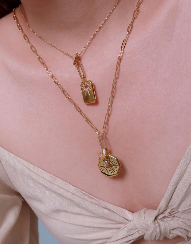 Women Sunlit Gold Necklace