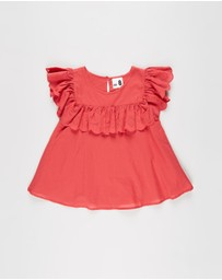 Cotton On Kids - Charlotte Broderie SS Top - Kids-Teens