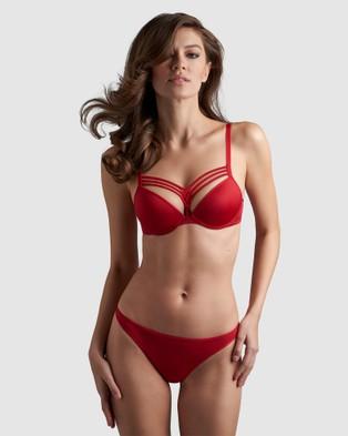 marlies dekkers Dame De Paris  Push Up Bra - Balconette Bras (Red)